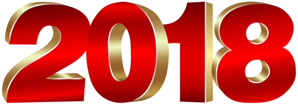 2018_Gold_and_Red_PNG_Clipart_Image